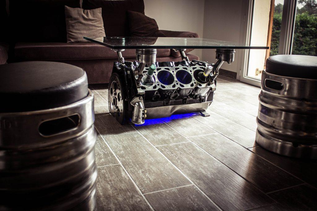 Table Basse V8 Fullmetalart