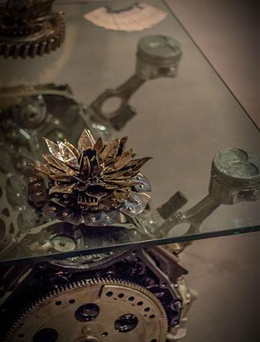 Création de mobilier métal en Drôme Ardèche